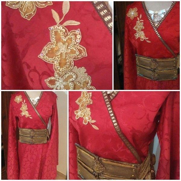 Robe Cersei: broderies du corset