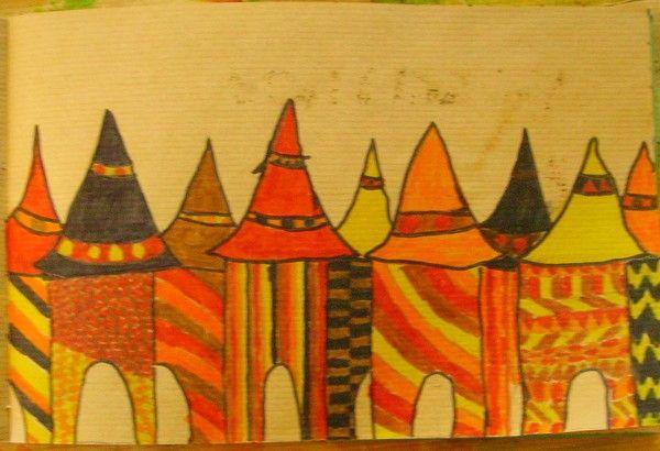 Village africain - Motifs africains maternelle ...