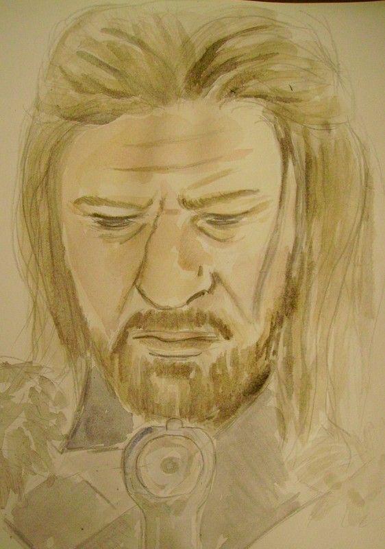 Ned Stark, aquarelle