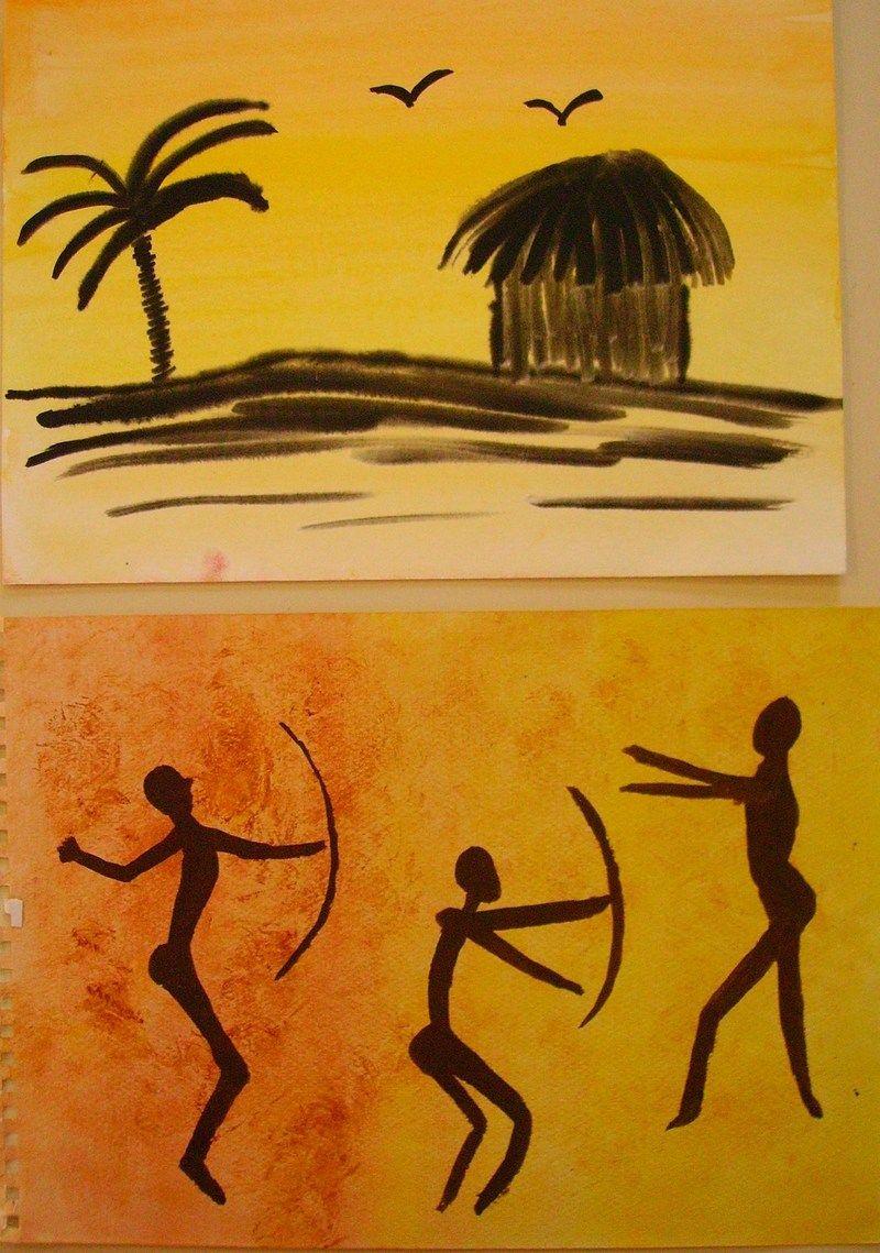 art africain dessin