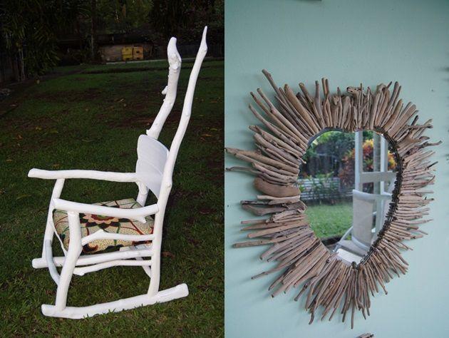 Objets en bois flott et yoles en verre for Objets de decoration en bois flotte