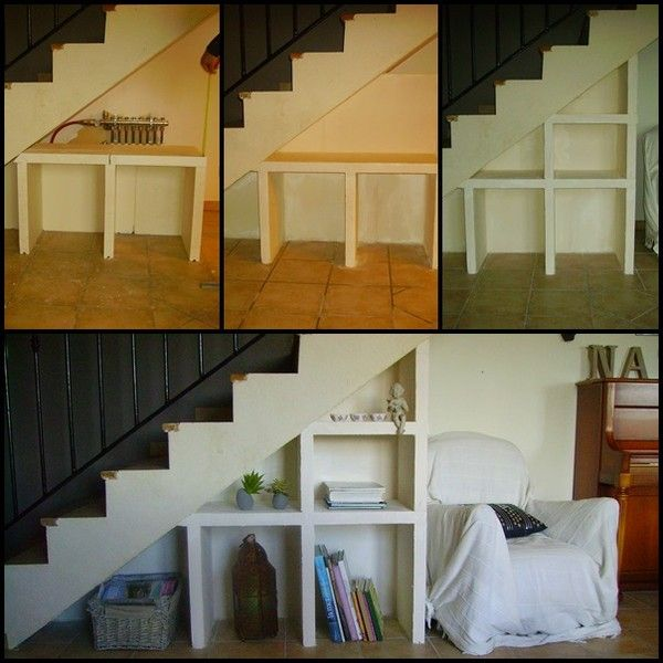 Avant Apr S Des Niches Sous Le Dessous D 39 Escalier