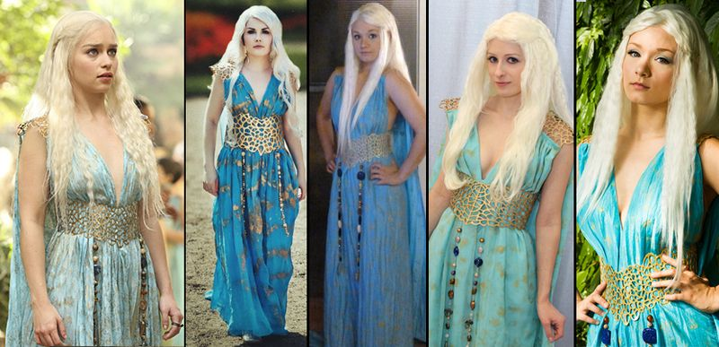 cosplay ou d guisement daenerys de game of thrones. Black Bedroom Furniture Sets. Home Design Ideas